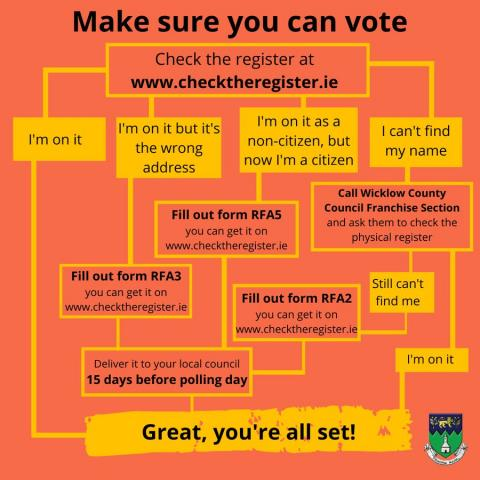 Make sure you can vote poster