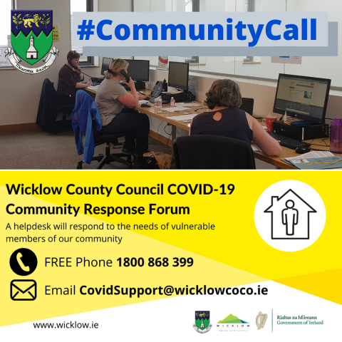 Wicklow Co. Council Community Call poster